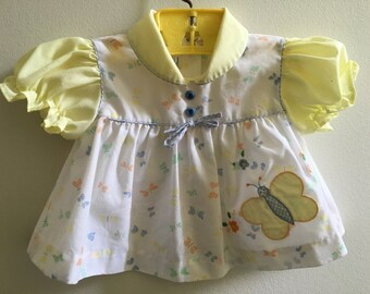 Vintage Babygirl Swing Top Butterfly 12 Months