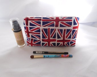 Union jack make up bag, Small make up bag, Union jack bag, toiletry bag, small wash bag