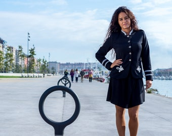 Sailor jacket, Navy Blazer, jacket marine, maritime jackets, jackets, Navy blazer, JACKET MARINE woman, Navy jacket,