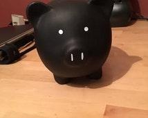 Chalkboard Paint Piggy Bank or Teapots