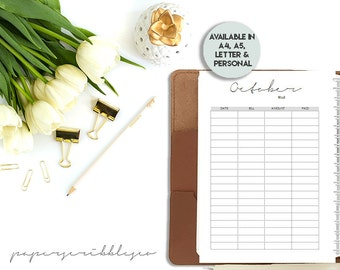 SALE -Budget Planner Printable, Budget Binder, Monthly Budget, Finance Planner,A5 Letter Personal Planner, Planner Agenda, Printable Planner