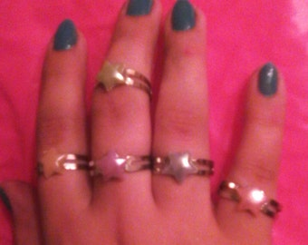 Star Ring in Your Choice of Five Colors