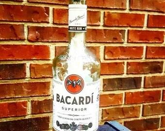 Repurposed Liquor Bottle Tiki Torches