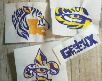 LSU Embroidery Design Package, Tigers Embroidery Design Package