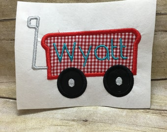 Wagon Applique, Wagon Embroidery Design