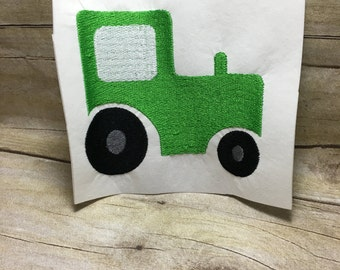 Tractor Embroidery Design, Green Tractor Embroidery Design