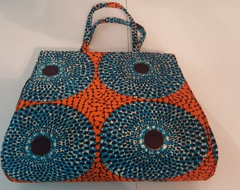 African Print Tote