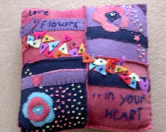 Cushion - made from upcycled felt