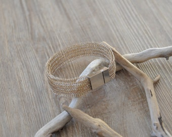 Silver plated wire bracelet