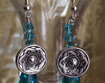 Tibetan Blossom Button Earrings