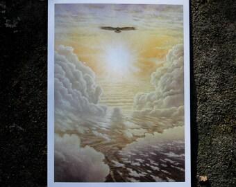 Heavenly Flight - Fine Art Greeting Card (blank inside)