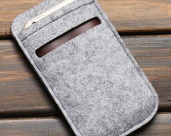100% Wool Felt Iphone 6 Plus case