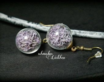 """Earrings earrings glass beads """"Moss"""""""