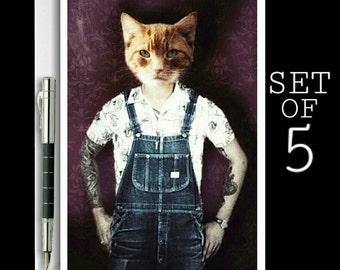 Funny Cat Card | Cat Notecards | Cat Greetings Card | Cat Lovers Card | Animal Cards | Cat Art | Handmade Cards | Cat Stationary