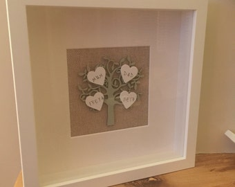 Handcrafted Family Tree Frame