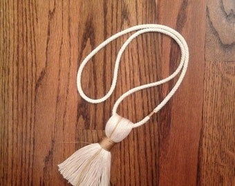 Gold Accented Tassel Necklace