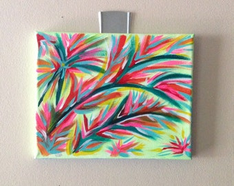 Colorful Abstract 8 X 10 acrylic painting-Colorful Branches