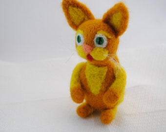 orange-yellow cat
