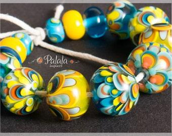 Set of Handmade Artisan Lampwork Glass Beads