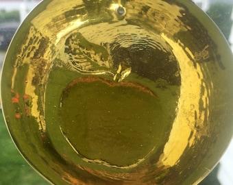 Pressed Glass Apple Sun Catcher