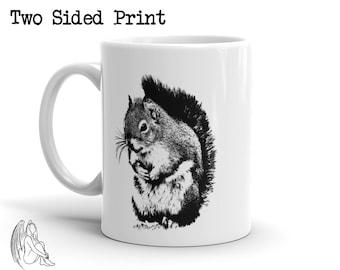 Squirrel Coffee Mug, Bunny, Animal, Animals, Furry, Adorable, Pet, Cute Gift