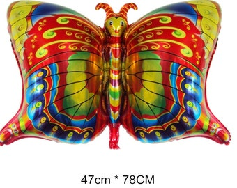Colorful Butterfly Shape Aluminum Foil Balloons Animal Balloon Children Inflatable Classic Toy Helium Ballons Party Decoration