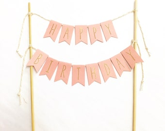 Happy Birthday bunting - cake topper