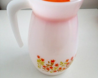 VINTAGE ARCOPAL France for SHELL 70s pitcher
