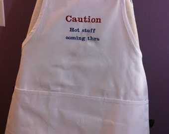 new men's embroidered apron