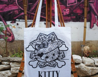 Tote Bag Hello Kitty Mandala