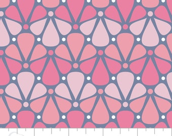 """Floral Fabric/ Nursery Fabric: Camelot Pastel me More Floral Pink 100% cotton Fabric by the yard 36""""x44"""" (H114)"""