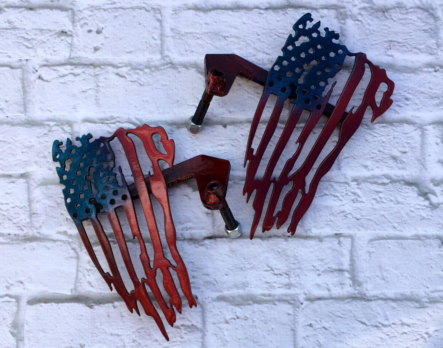 patriotic american flag custom jeep foot pegs