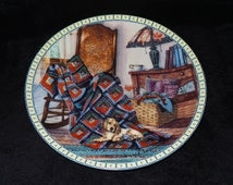 """1990 Knowles Cozy Country Corners """"Warm Retreat"""" Collector Plate by Hannah Hollister Ingmire"""