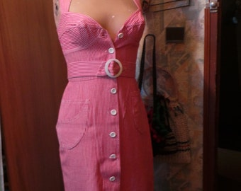 DRESS was striped cotton brigitte bardot to go in st Tropez!