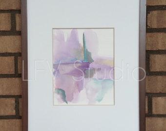 Original Abstract Watercolor & Acrylic Painting Multi-color Series #004 - LFV Studio