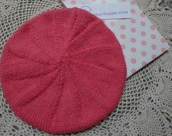 Hand knitted Beret Hats for Baby