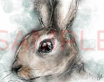 Rabbit - A3 print