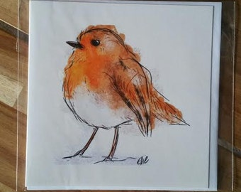 Greeting card - robin