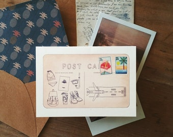 Postcard Greeting Card