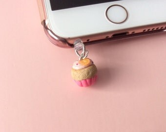 Handmade muffin cellphone charms, dust cover, dust plug, charm