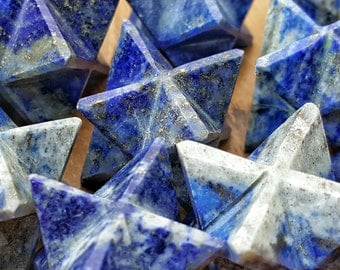 Lapis Lazuli Crystal Merkaba Star  - Perfect for Jewelry making, Crystal Grids, or Terrariums 310