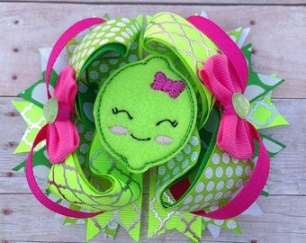 Sweet Lime 4 1/2 inch Stacked Bow