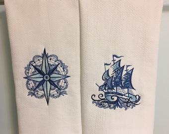 Nautical Dish Towels