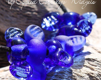 UpCycled Widget lampwork beads MTO from Corralejo Bottle glass for Jewelry Design