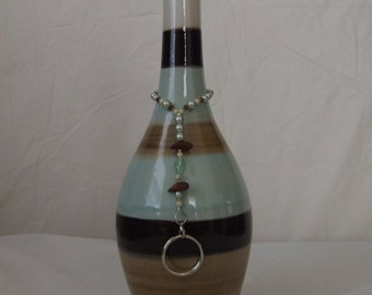 Incense Stick Burner Ash Catcher Smoking Bottle Multi-Color Ceramic 14""