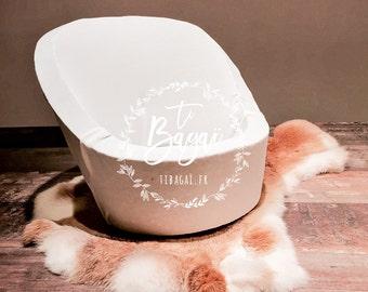 Newborn props armchair jersey ecru baby newborn photography sofa