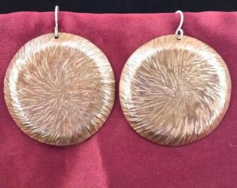 Hammered Copper Artisan Earrings