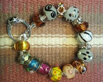 Multicolored roundelle bracelet