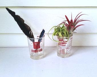 Glass Cup Medicine Fleet Phospho Soda