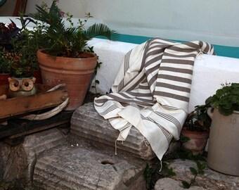 Sature - Unbleached Natural Cotton Beach Towel
